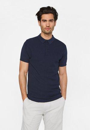 MET STRUCTUUR - Poloshirt - dark blue