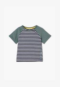 s.Oliver - MIT STREIFENMUSTER - Print T-shirt - dark blue - 0