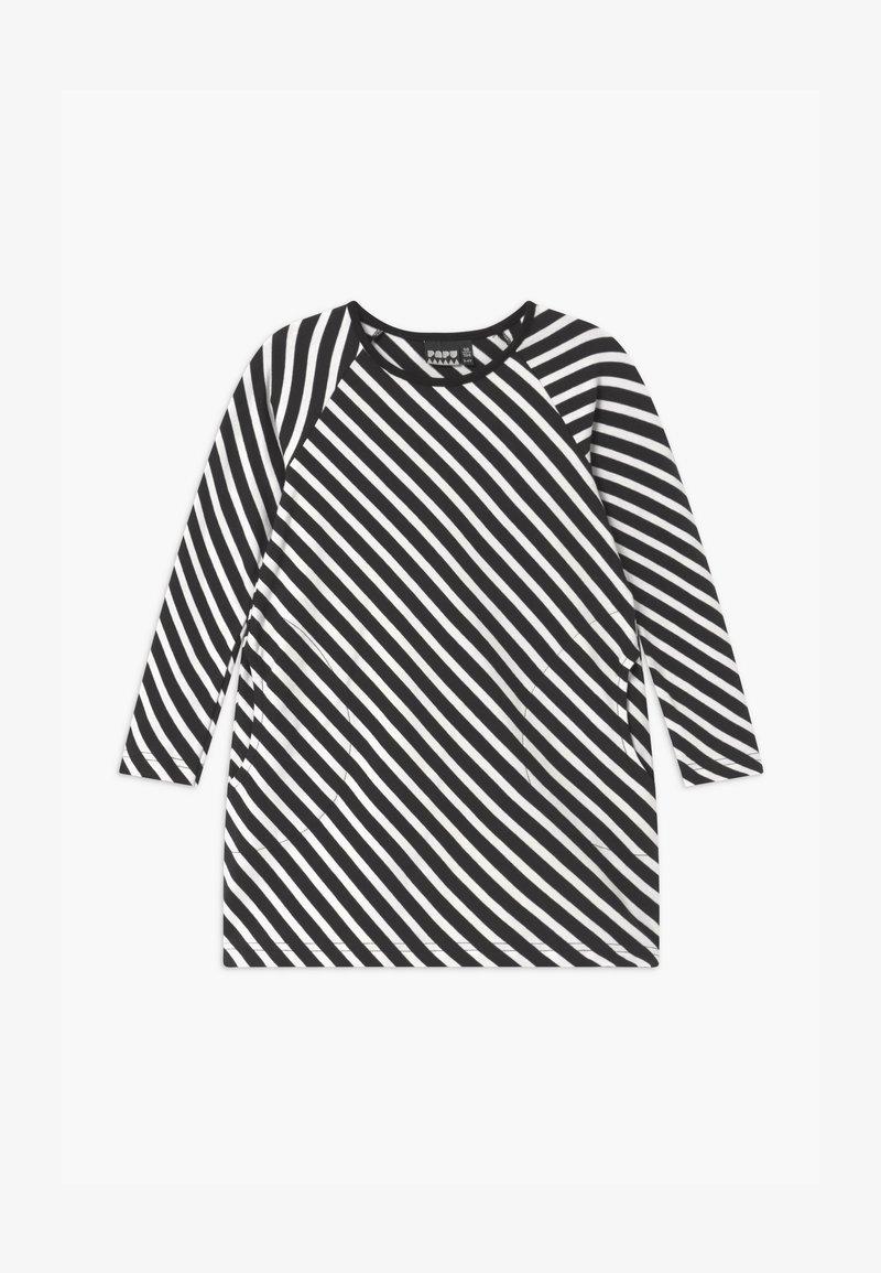 Papu - STRIPE - Žerzejové šaty - black sand
