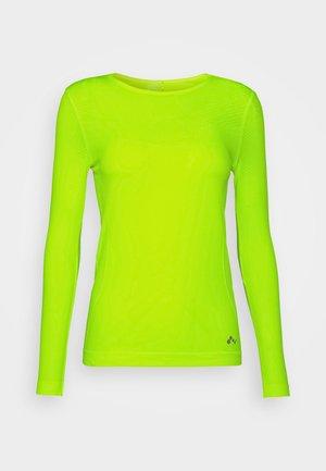 ONPSTACIA CIRCULAR - Langarmshirt - safety yellow