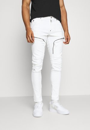 AIR DEFENCE ZIP SKINNY - Jeansy Skinny Fit - elto white superstretch - white