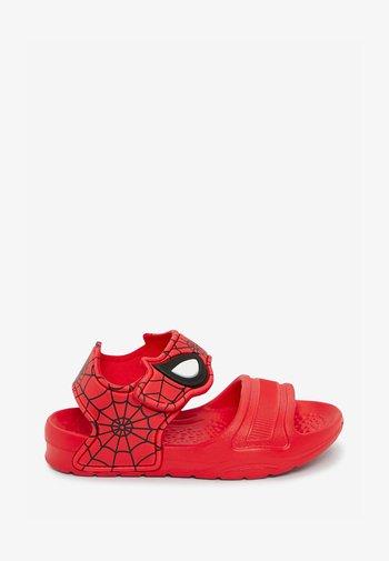 Sandály do bazénu - red