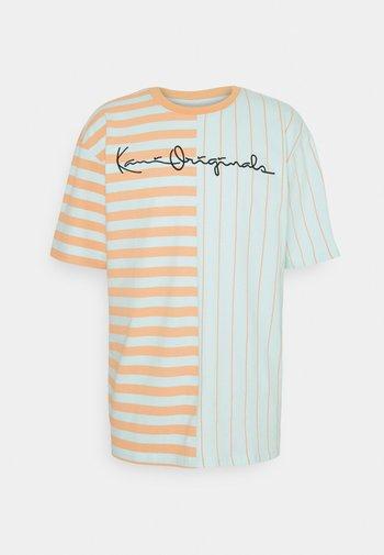 ORIGINALS BLOCK STRIPE TEE UNISEX - Print T-shirt - mint
