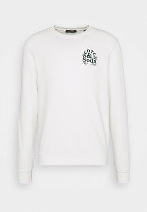 CREW NECK LOGO - Sweatshirt - off white