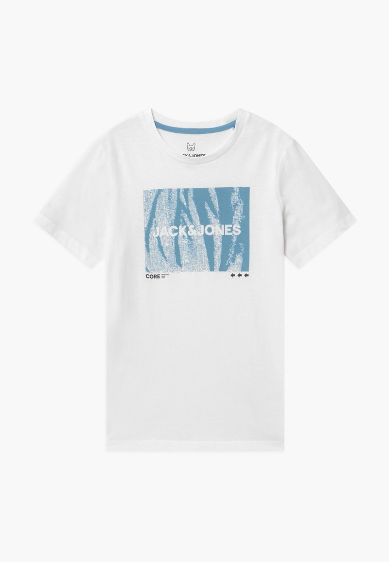 Jack & Jones Junior - JCOBOOSTER TEE CREW NECK - Print T-shirt - white