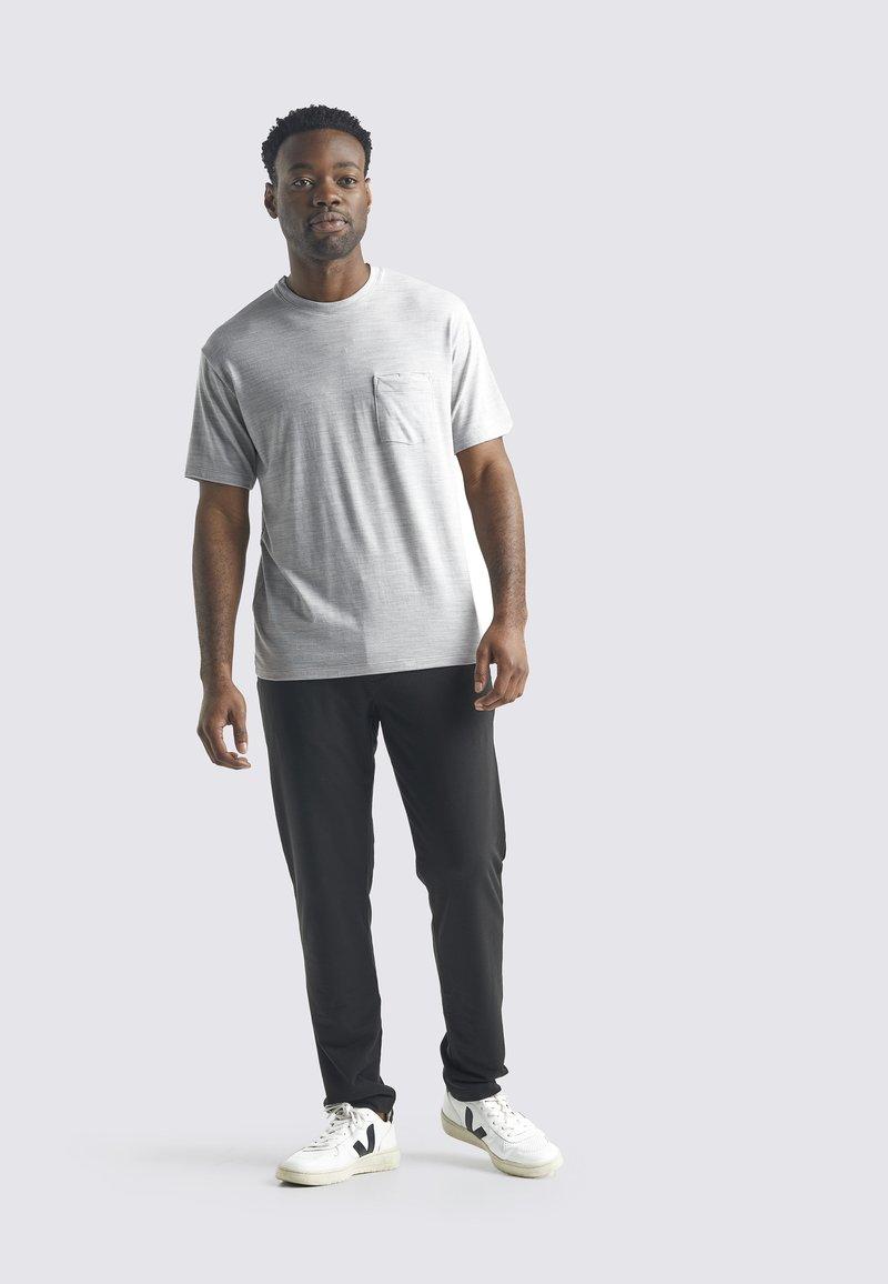 Icebreaker - T-shirt basic - blizzard hthr