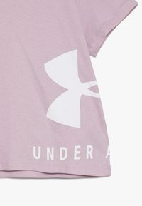 Under Armour - SPORTSTYLE TEE - Print T-shirt - pink fog/white - 3