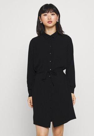 VMSAGA COLLAR SHIRT DRESS PETITE - Shirt dress - black