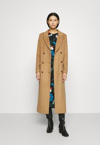 Who What Wear - DOUBLE BREASTED COAT - Zimní kabát - camel - 1