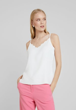 SIINA SCALLOP NECKLINE CAMI TOP - Topper - ivory