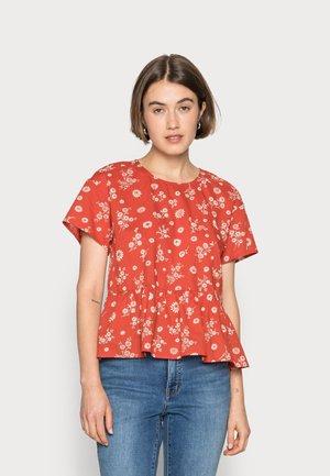 MAISIE - Print T-shirt - etruscan clay