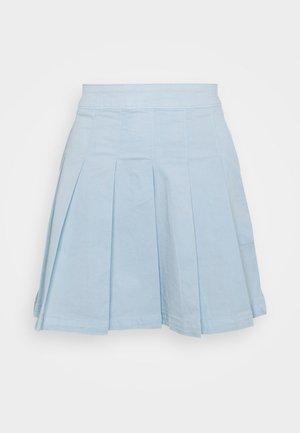 PLEATED SKIRT - Miniskjørt - light blue