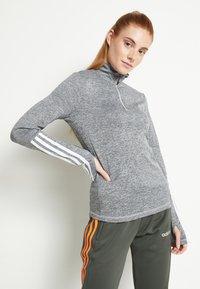 adidas Performance - Funkční triko - mottled grey - 0