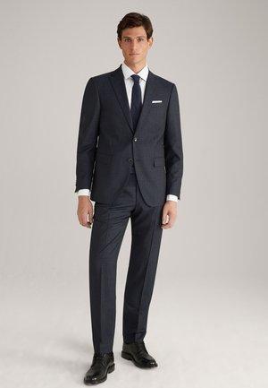 BRAD - Suit - navy gemustert