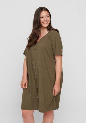 Shirt dress - ivy green