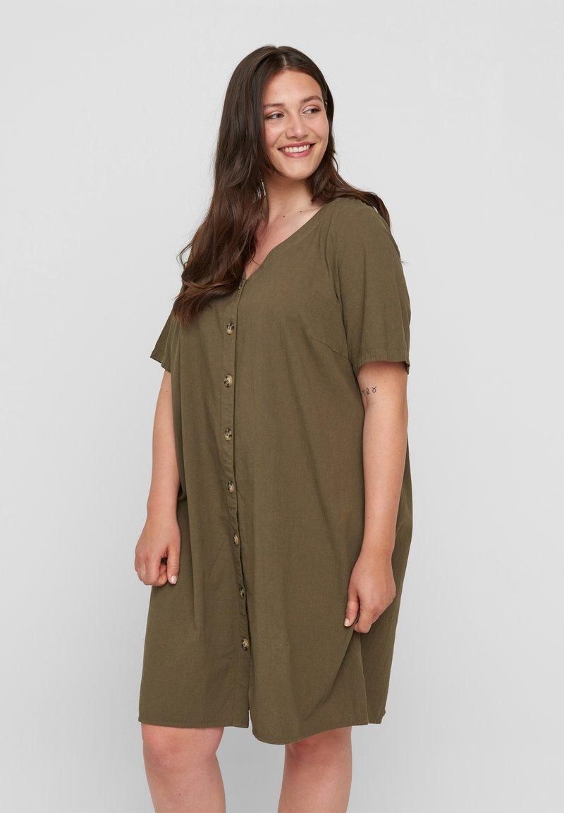Zizzi - Shirt dress - ivy green