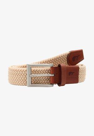 CLASSIC - Braided belt - sand