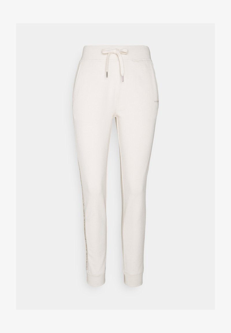 Calvin Klein Jeans - LOGO PANTS - Tracksuit bottoms - white sand