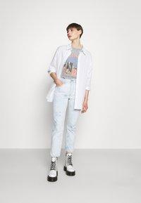 Levi's® - 501 CROP - Jeans straight leg - scribble down lb - 1