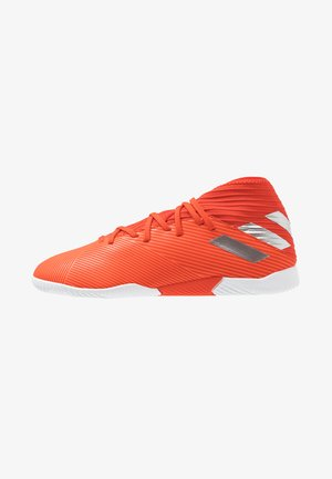 NEMEZIZ FOOTBALL BOOTS FIRM GROUND - Moulded stud football boots - active red/silver metallic/solar red