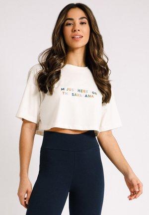 POSITIVE SLOGAN GRAPHIC - T-shirt con stampa - white