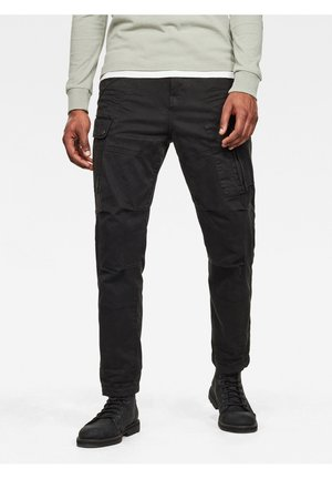 ROXIC STRAIGHT TAPERED - Cargo trousers - dk black gd