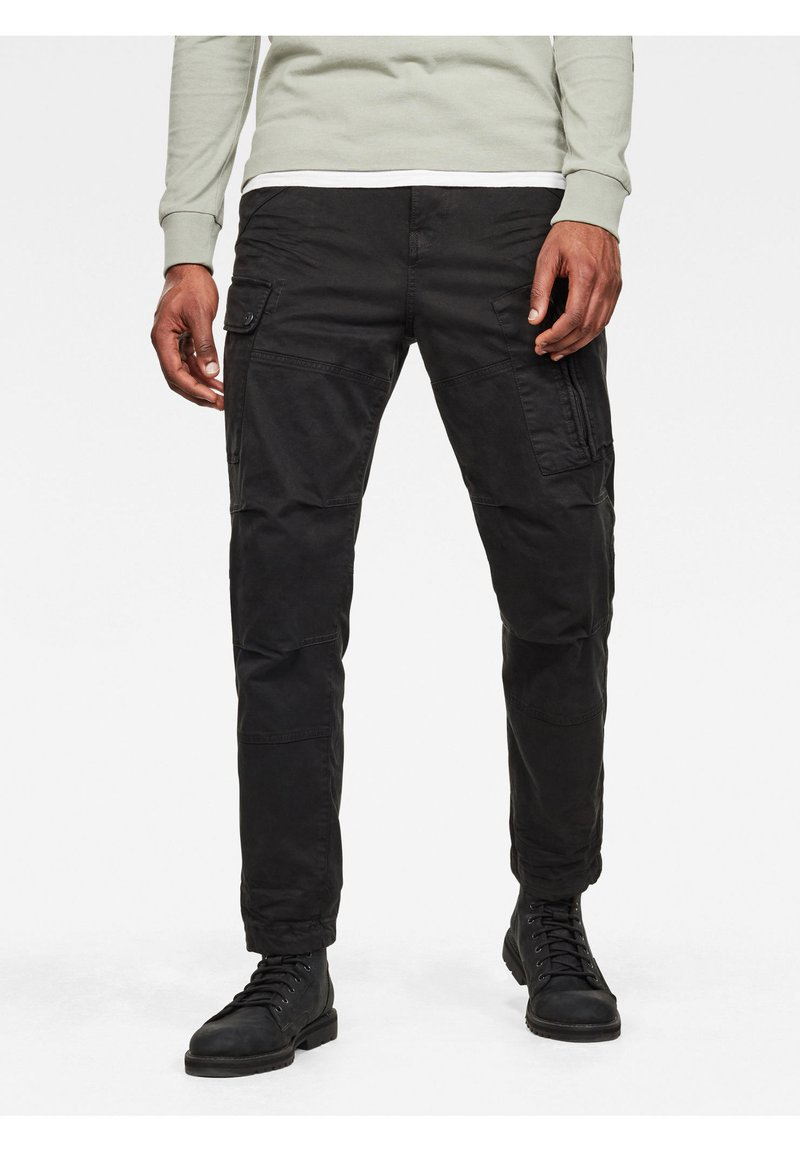 G-Star - ROXIC STRAIGHT TAPERED - Cargo trousers - dk black gd