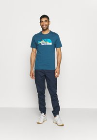 The North Face - MOUNTAIN LINE TEE - T-shirt con stampa - monterey blue - 1