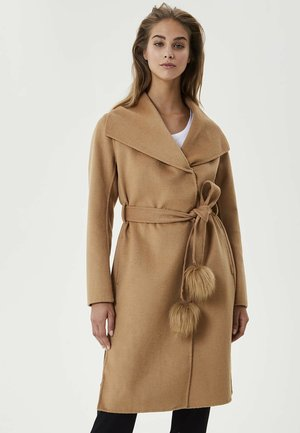 WITH POMPON - Manteau classique - brown