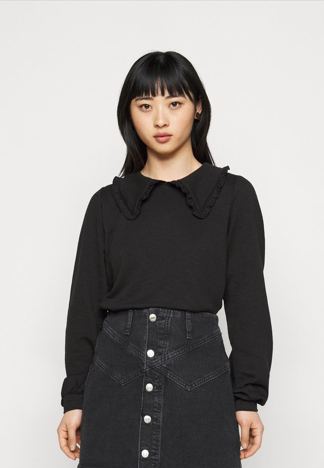 NMDIANA - Maglietta a manica lunga - black