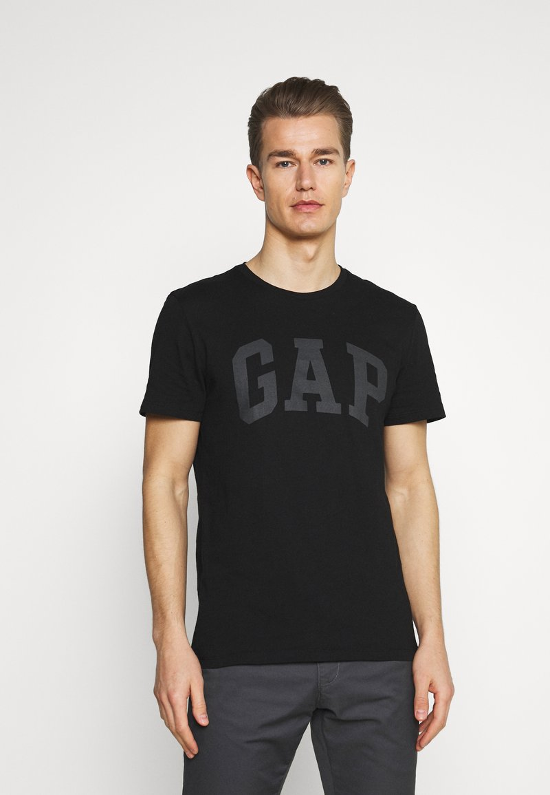 GAP - BASIC LOGO - Print T-shirt - true black