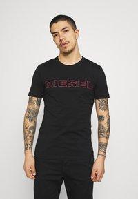 Diesel - 2 PACK - T-shirt con stampa - black/white - 3