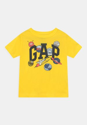 T-shirt med print - bright lemon