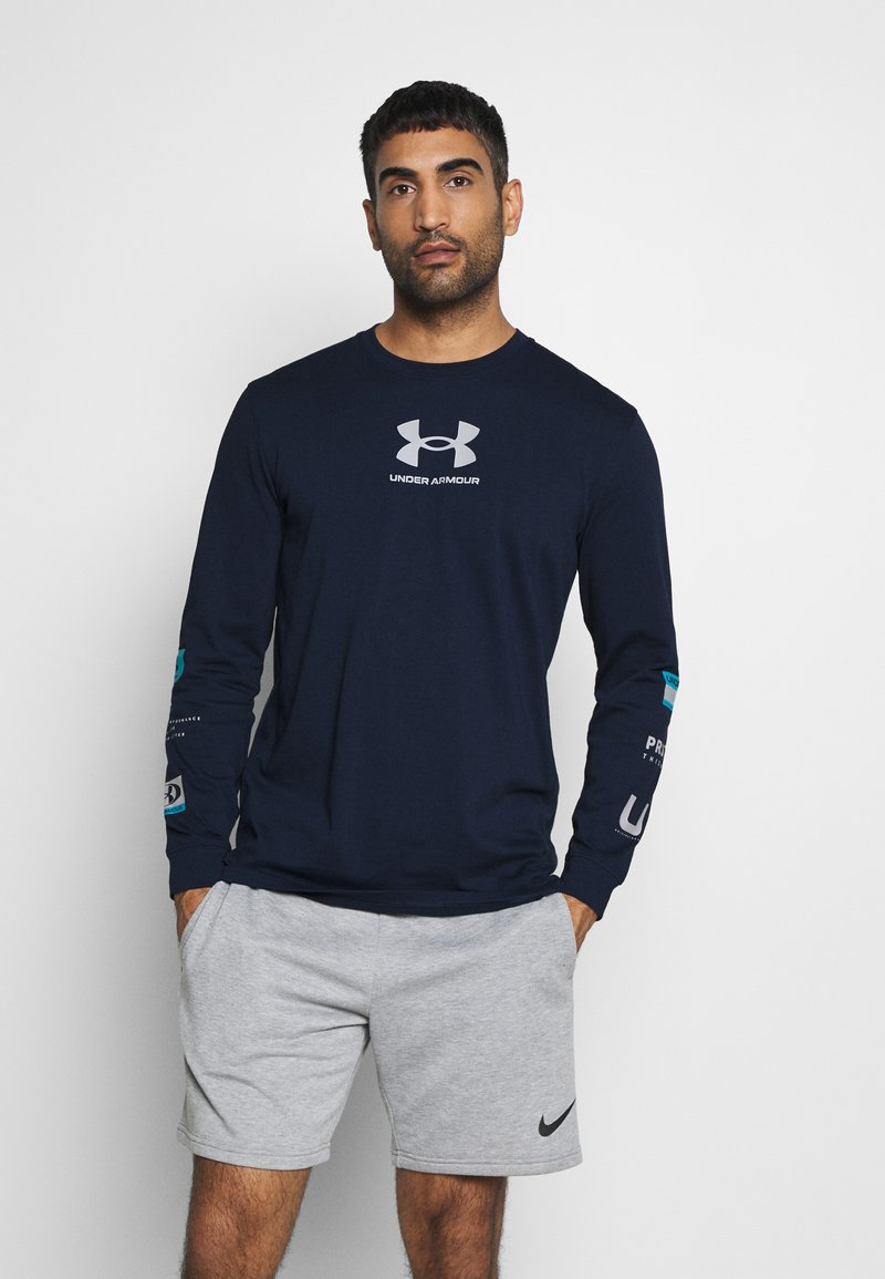 Under Armour - MULTI LOGO - Long sleeved top - academy/halo gray