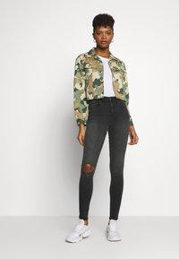 Dr.Denim - LEXY - Jeans Skinny Fit - off black destroy - 1