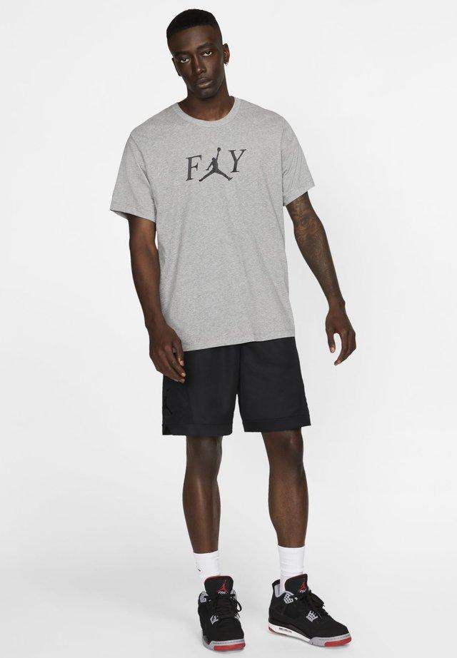FLY - Print T-shirt - carbon heather/black