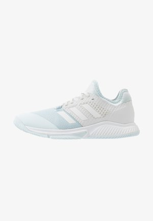 COURT TEAM BOUNCE - Handbalschoenen - sky tint/footwear white/signal orange