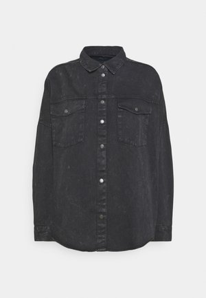 NMRICA OVERSIZE ACID - Button-down blouse - black