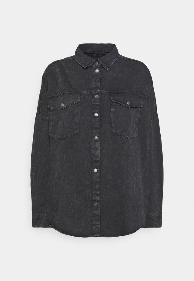 NMRICA OVERSIZE ACID - Button-down blouse - black