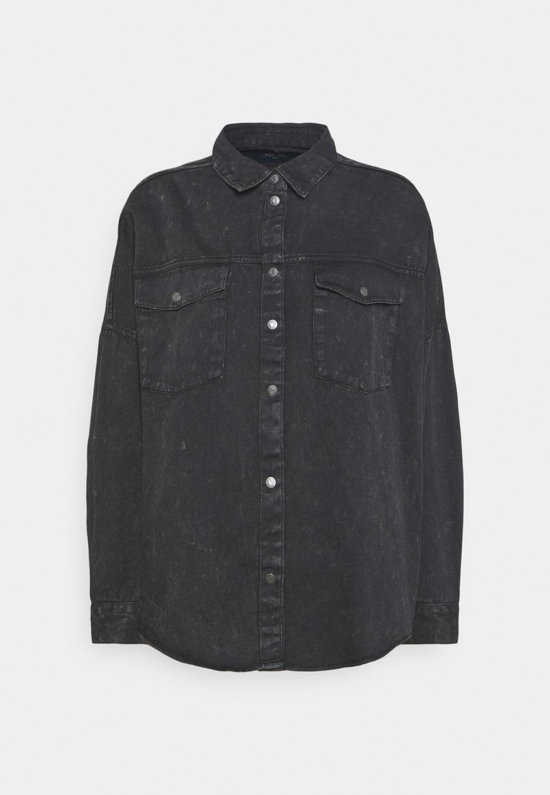 Noisy May - NMRICA OVERSIZE ACID - Button-down blouse - black