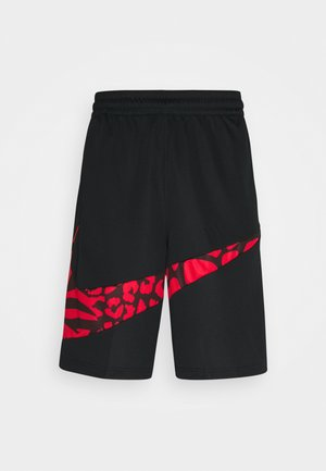 DRY SHORT PRINT - Pantalón corto de deporte - black/university red