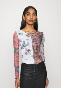 NEW girl ORDER - SPLICED PATCHWORK - Long sleeved top - multi - 0