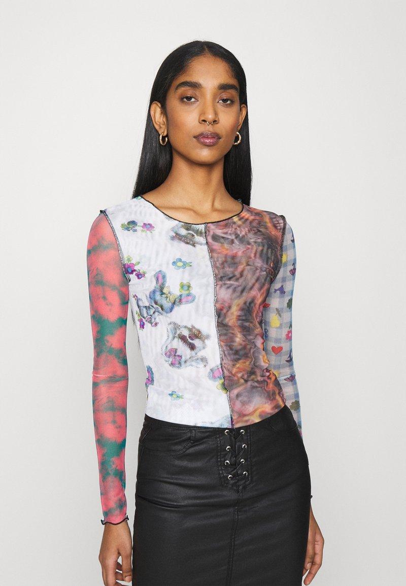 NEW girl ORDER - SPLICED PATCHWORK - Long sleeved top - multi