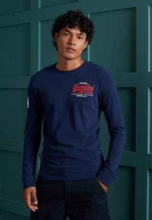 Longsleeve - midnight blue grit