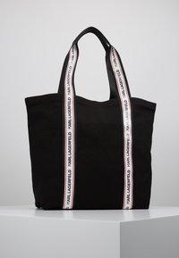 KARL LAGERFELD - KARL WEBBING SHOPPER - Tote bag - black - 2