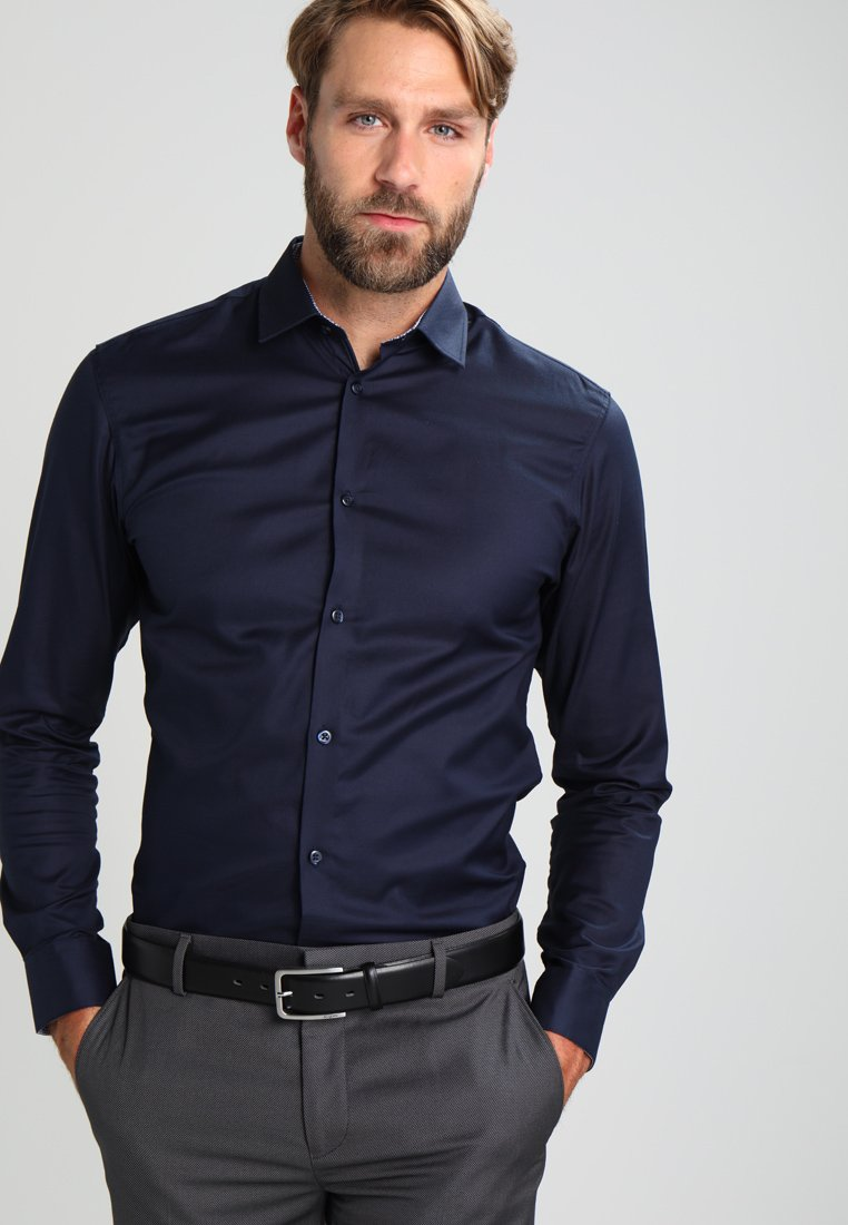 Selected Homme - SLHSLIMNEW MARK SLIM FIT - Camicia elegante - navy blazer