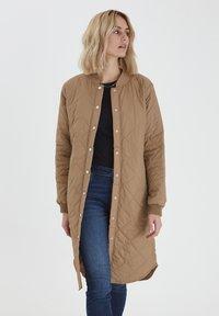 PULZ - PZELINA  - Winter coat - tannin - 0