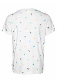 Protest - VALOR JR - Print T-shirt - off-white/neon pink/blue - 1
