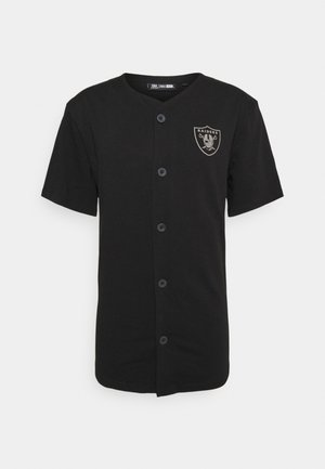 NFL LAS VEGAS RAIDERS GEOMETRIC CAMO BASEBALL JERSEY - Club wear - black