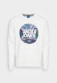 SWIRL CREW NECK - Sweatshirt - white melange